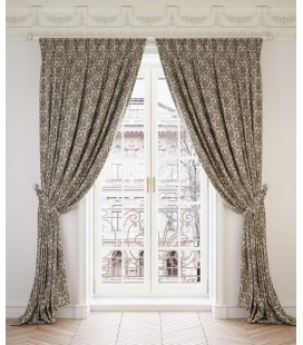 2 Curtains  Ginevra Gold & Black