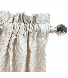 Tenda con Tasca per Bastone Maria Avorio