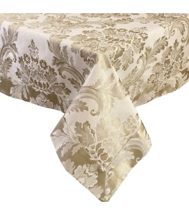 Tablecloth Verona cream & gold