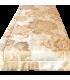 Splendido Runner Jacquard con motivo floreale avorio - crema - oro