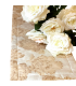 beautiful runner with flower pattern jacquard ivory - gold
