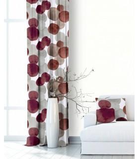 Modern Curtain  Atlas Burgundy