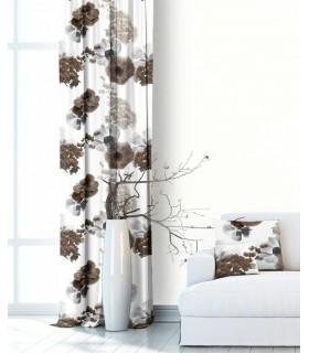 Modern Curtain Bouquet Seppia
