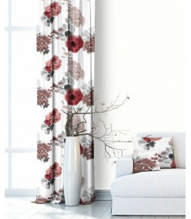 Modern Curtain Bouquet Burgundy
