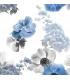 Modern Curtain Bouquet Blue