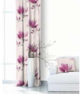Modern Curtain Magnolia Fuchsia