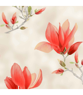 Modern Curtain Magnolia Coral