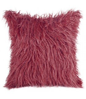 Cushion In Bordeaux Color made in Eco Fur 45 x 45 cm