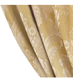 Colore oro, tenda jacquard in cotone con motivo bianco classico