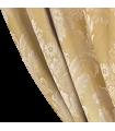 Rideau Jacquard en coton couleur or avec motif blanc classique