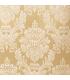 Золотая, Жаккардовая Штора с Классическим Белым Узором