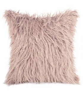 Cushion In Pink Powder Color made in Eco Fur 45 x 45 cm