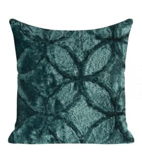Decorative cushion in fur effect fabric, with geometric design Design, 45 x 45 cm