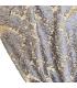 Rideau Classique de Luxe Bleu-Or, Collection Baccarda