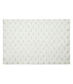 Коврик для ванны, Белый цвет, украшенный серебряными нитями