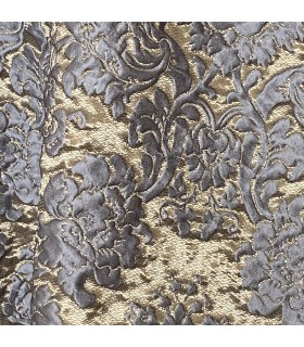 Jacquard Curtain Blue and Gold, Classic style, Baccarda Collection