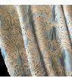 Rideaux Doubles Elégants de Luxe Vert Monte Carlo avec motif doré
