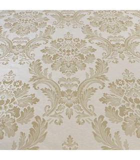 Cream Cotton Jacquard  with golden motive