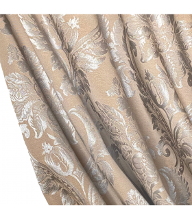 double cotton curtains in color cappuccino