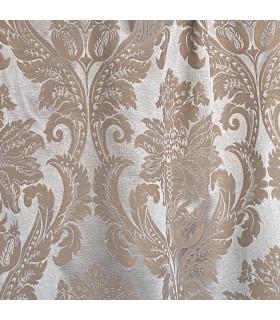 блестящие двойные шторы из хлопка светло-коричневого цвета