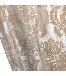 двойные шторы из хлопка светло-коричневого цвета