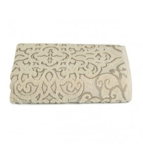 Jacquard Design Towel, Beige color, 50 x 90 c
