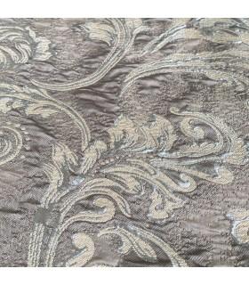 Luxury Double Curtain grey - cream coll. St.Tropez
