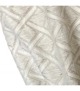 Moderna, Lussuosa Tenda Jacquard, colore crema, grigio chiaro, collezione New York, Baccarda New York, Baccarda