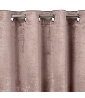 Tenda a Occhielli, in Velluto Rosa, 140 x 250 cm