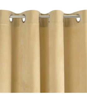 Curtain with eyelets beige color, 140 x 250 cm