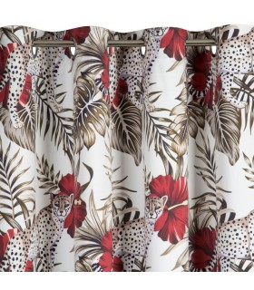 Curtain with eyelets Pattern animalier, 140 x 250 cm
