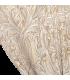 Красивый жаккардовый двойной занавес в кремовом цвете с белым мотивом