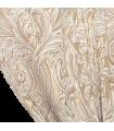 Beau rideau double jacquard de couleur crème avec motif blanc