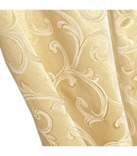 Lussuosa, Doppia Tenda in colore Oro con motivo color Crema