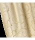 Elegant Double Cotton Curtains Cream - Gold color, coll Rome