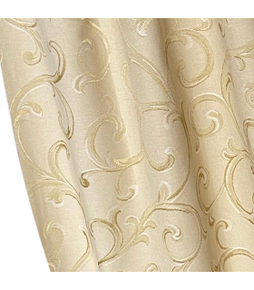 Elegant Curtain  Rome Cream - Gold