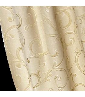 Элегантные шторы из двойного хлопка в кремовом - золотом цвете, колл ROME
