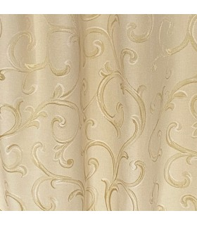 Elegant, Double, Cotton Curtains Cream - Gold color, made to measure,  coll Rome