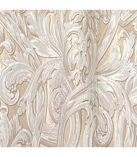 Красивая Ткань Bellezza Ivory в кремовом цвете с белым мотивом
