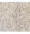 Beau Tissu jacquard de couleur crème avec motif blanc
