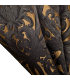 Luxury Jacquard Fabric in Gold and Black color, Baroque motive, coll. Bellezza Black