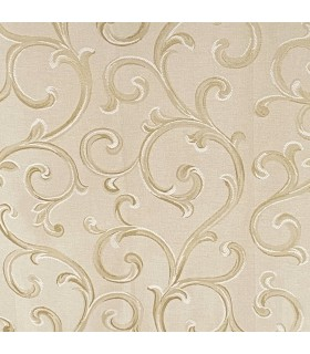 Fabric for Curtains  Rome Cream - Gold