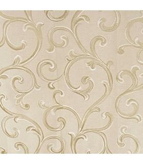 Tissu pour Rideaux Rome Cream - Gold