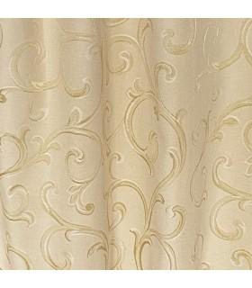 Elegant Cotton Jacquard Cream - Gold color, made to measure,  coll Rome