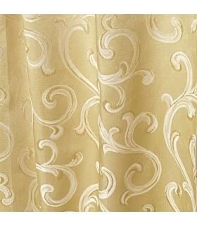 Роскошная, двойная Ткань для штор золотого цвета с кремовым рисунком