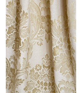 Cream Cotton Jacquard  with gold motive