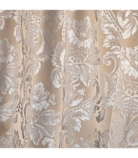 double cotton fabric in color cappuccino, shinny pattern