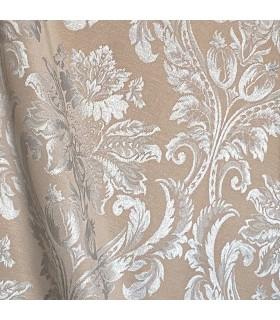 double cotton Fabric in color cappuccino, classic motive