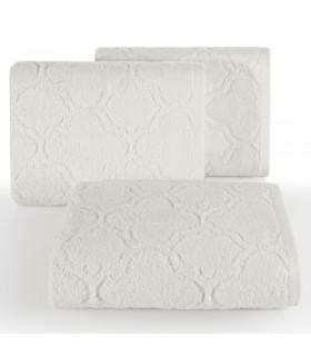 Asciugamano disegno Ornamentale, Colore Bianco, 50 x 90 cm