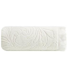 Asciugamano disegno Ornamentale, Colore bianco 50 x 90 cm